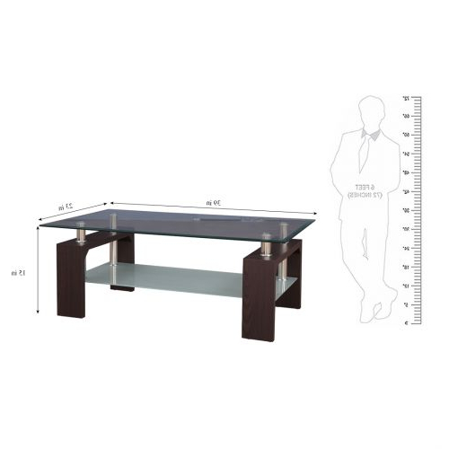 2019 Buy Giles Glass Center Table In Walnut Colourhometown Online At Intended For Giles 3 Piece Dining Sets (Gallery 18 of 20)