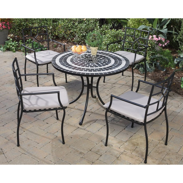 2019 Delmar 5 Piece Dining Sets Inside Shop Delmar Black And Grey Tile Top 5 Piece Dining Set – Free (Gallery 17 of 20)