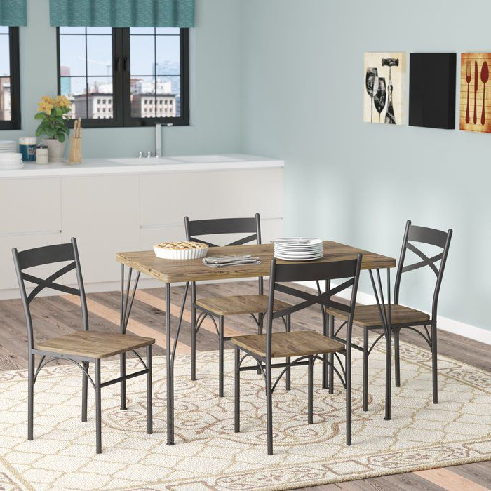 2019 Jarrod 5 Piece Dining Sets Intended For Middleport 5 Piece Dining Set (View 7 of 20)
