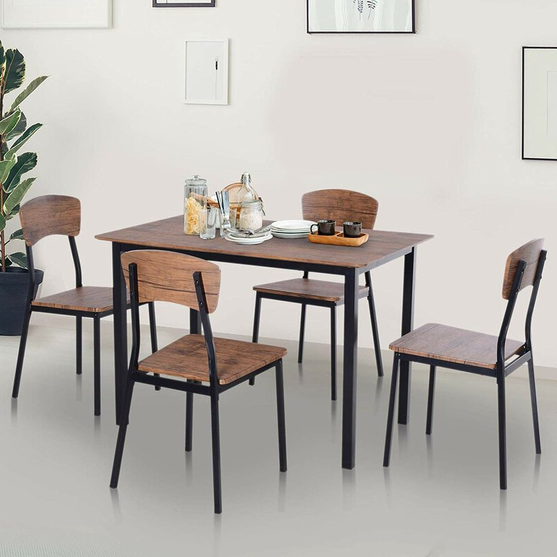 2019 Union Rustic Castellanos Modern 5 Piece Counter Height Dining Set Intended For Castellanos Modern 5 Piece Counter Height Dining Sets (View 2 of 20)
