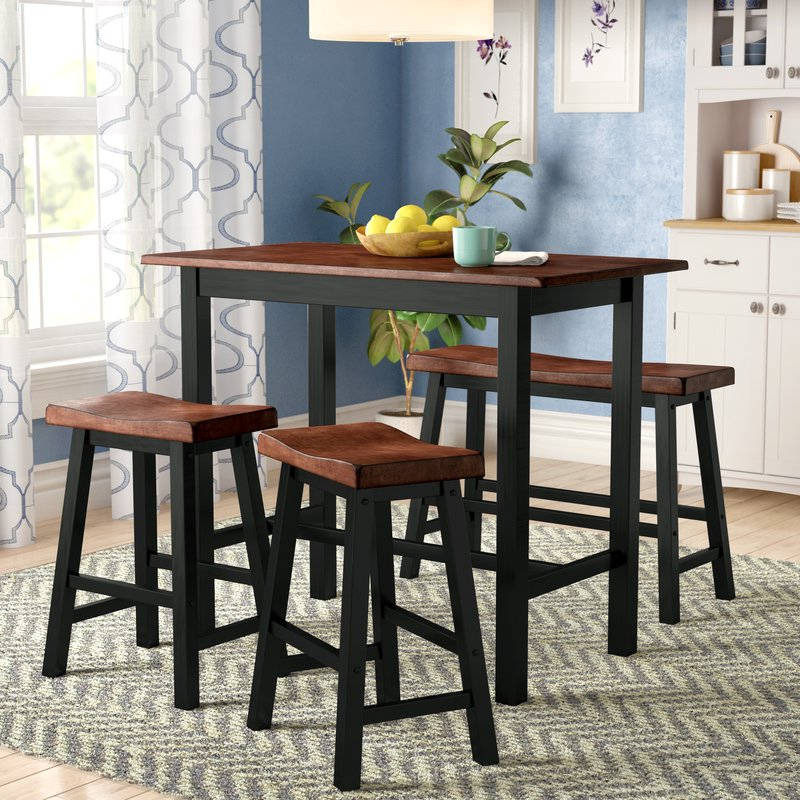 2019 Winsted 4 Piece Counter Height Dining Sets With Regard To Red Barrel Studio Winsted 4 Piece Counter Height Dining Set (Gallery 1 of 20)