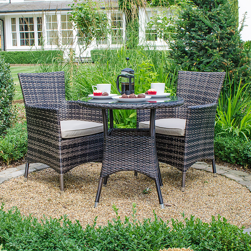 2020 Amelia 2 Seat Bistro Set – Brown At Homebase.co (View 1 of 20)