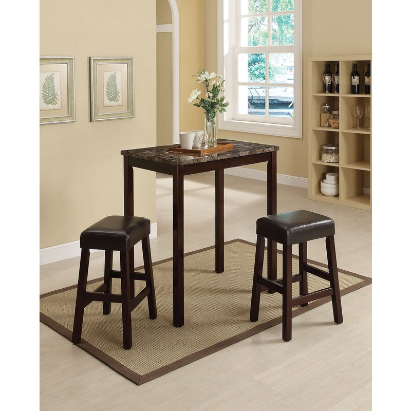 2020 Askern 3 Piece Counter Height Dining Sets (Set Of 3) Intended For Winston Porter Askern 3 Piece Counter Height Dining Set (Gallery 1 of 20)