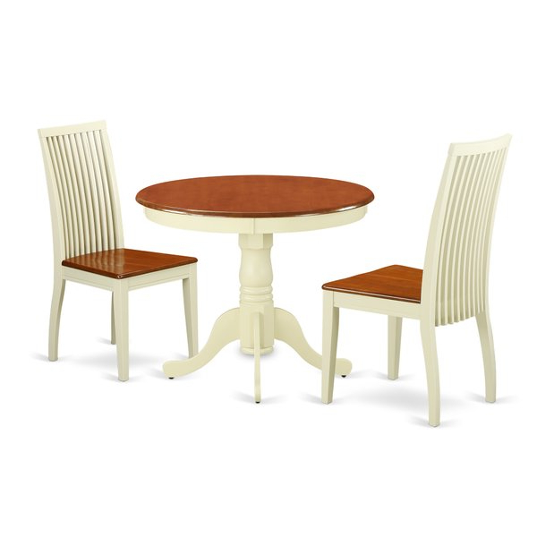 2020 Brendan 3 Piece Breakfast Nook Solid Wood Dining Setaugust Grove In 3 Piece Breakfast Nook Dinning Set (View 2 of 20)