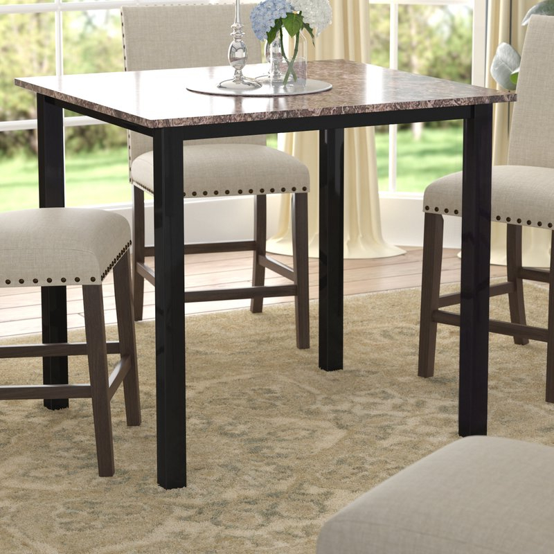 2020 Noyes 5 Piece Dining Sets Inside Red Barrel Studio Noyes Counter Height Dining Table & Reviews (Gallery 7 of 20)