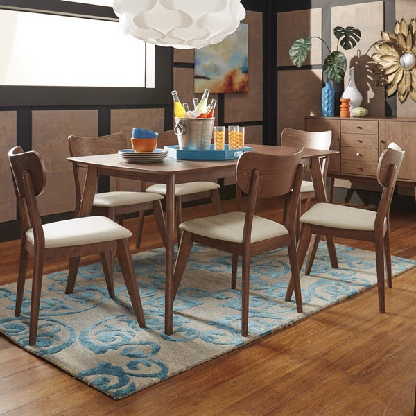 2020 Penelope 3 Piece Counter Height Wood Dining Sets Intended For Shop Penelope Danish Modern Walnut Dining Setinspire Q Modern (Gallery 20 of 20)