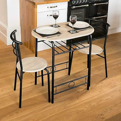 3 Piece Breakfast Dining Sets With Regard To Popular 3 Piece Breakfast Garden Bar Dining Table And 2 Chairs Set Metal (View 12 of 20)