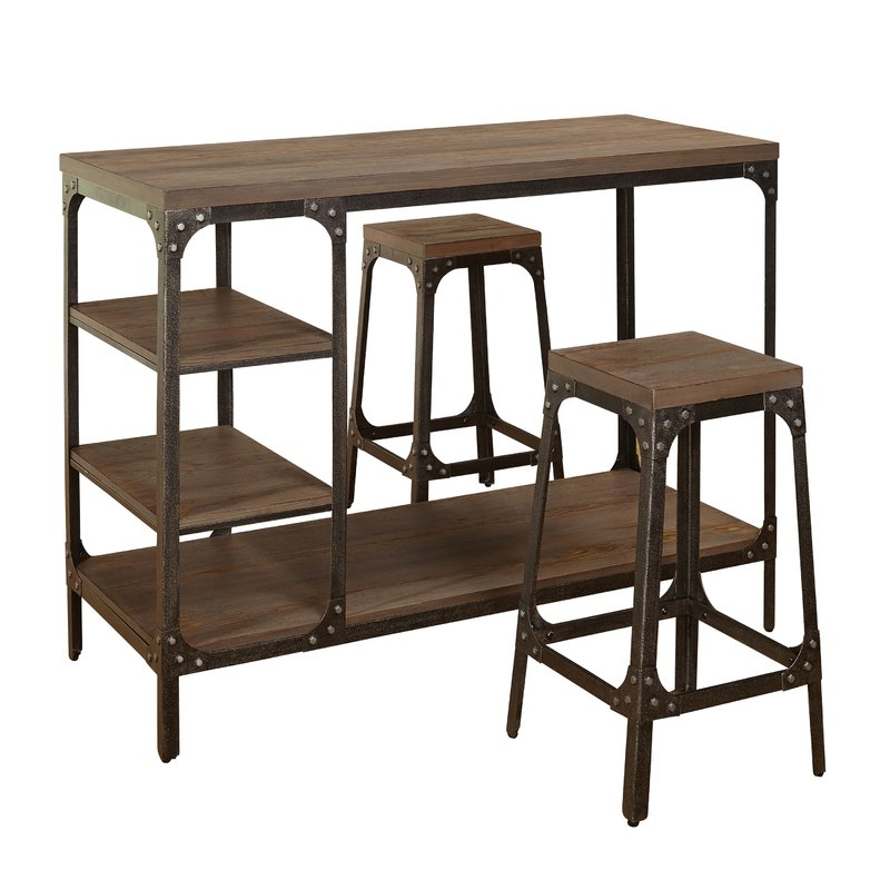 3 Piece Breakfast Nook Dinning Set With Regard To Well Known Terence 3 Piece Breakfast Nook Dining Set & Reviews (Gallery 6 of 20)