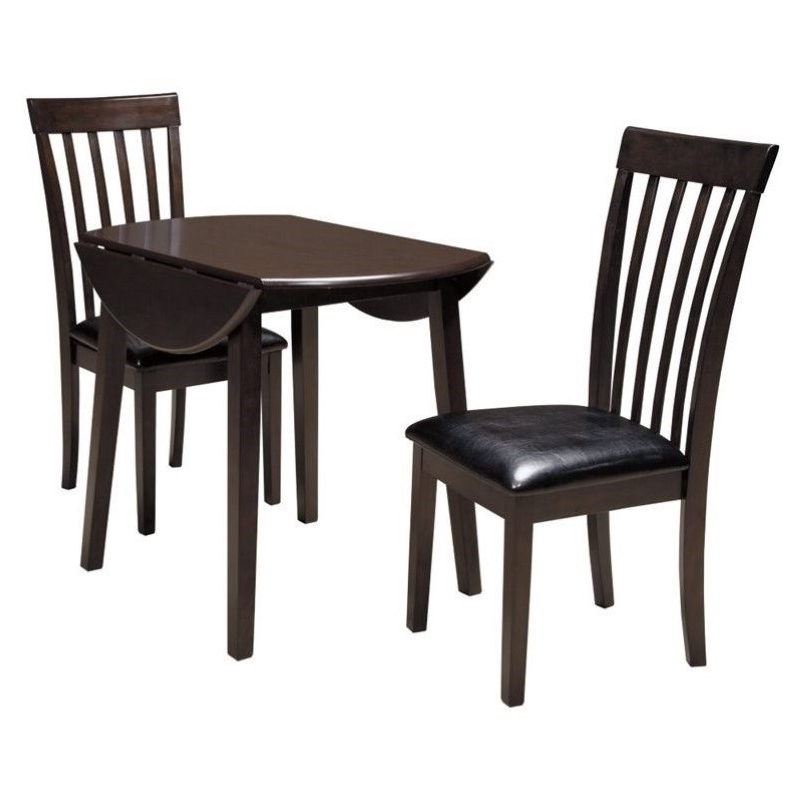 3 Piece Dining Sets In Latest Ashley Hammis 3 Piece Dining Room Set In Dark Brown – D310 15 01X2 Pkg (View 4 of 20)