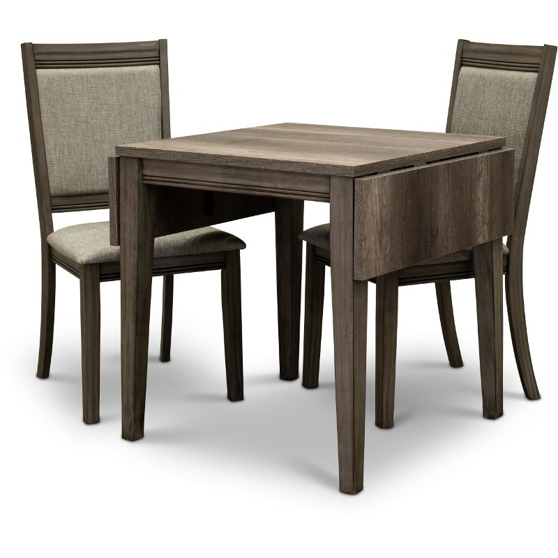 3 Piece Dining Sets Within Famous Gray 3 Piece Dining Set With Upholstered Chairs – Tanners Creek (View 14 of 20)