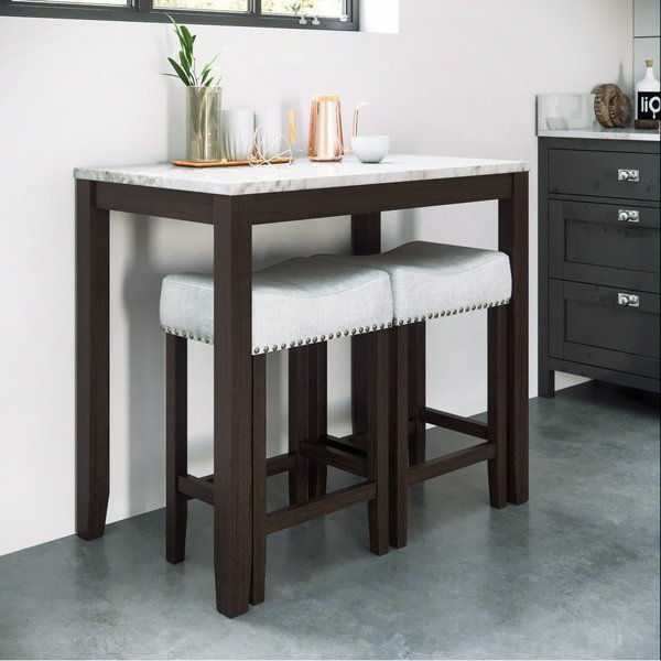 3 Piece Intended For Debby Small Space 3 Piece Dining Sets (View 12 of 20)