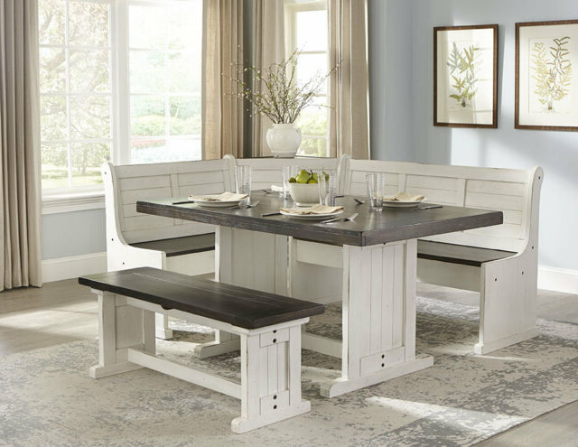 5 Piece Breakfast Nook Dining Sets Throughout 2019 August Grove Villepinte 5 Piece Breakfast Nook Dining Set (Gallery 9 of 20)