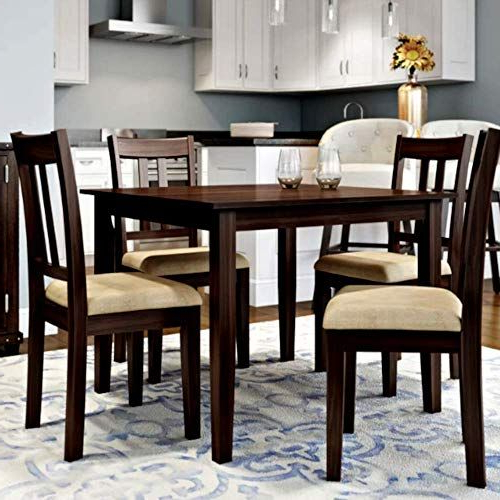 5 Piece Mid Century Modern Dining Table Set, Outdoor And Indoor In Most Popular Ganya 5 Piece Dining Sets (View 5 of 20)
