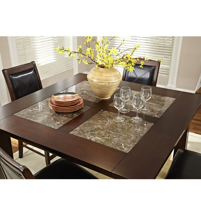 """$560 Granita 54"""" Counter Height Dining Table With Granite Inlays With Regard To Most Recent Castellanos Modern 5 Piece Counter Height Dining Sets (View 14 of 20)"""