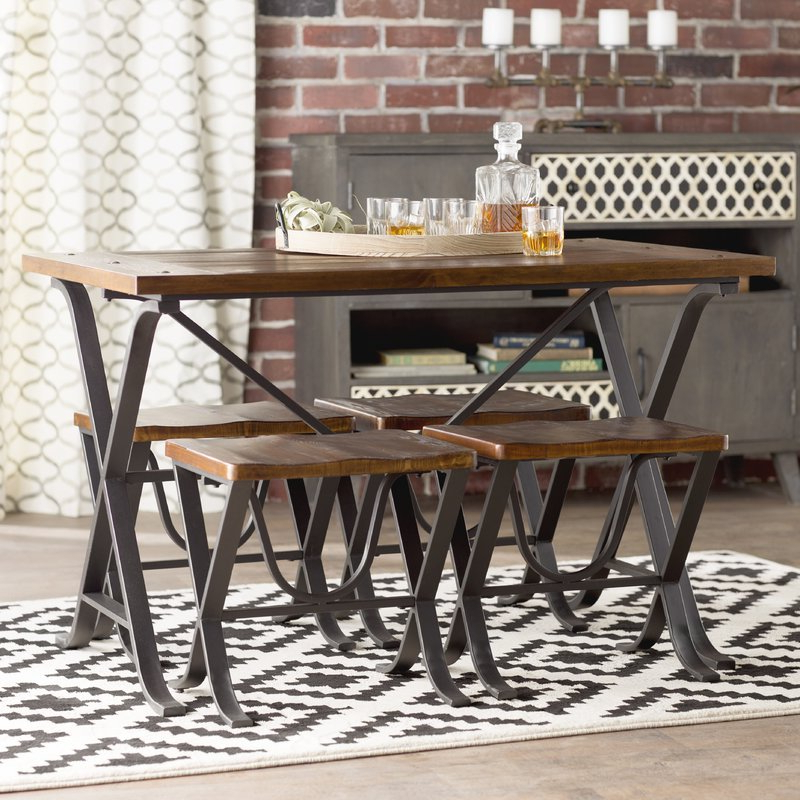 Aguiar 5 Piece Dining Set & Reviews (Gallery 14 of 20)