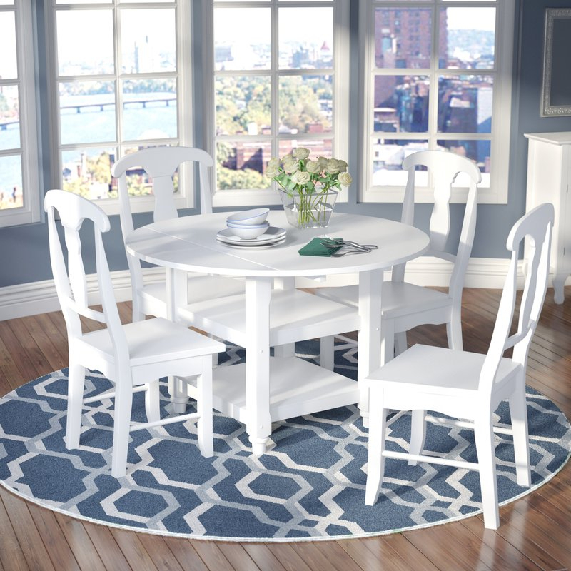 Alcott Hill Harwick 5 Piece Dining Set & Reviews (Gallery 19 of 20)