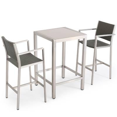 Allmodern Within Berrios 3 Piece Counter Height Dining Sets (View 16 of 20)