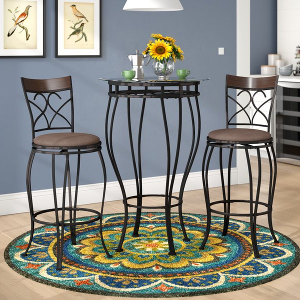 Almazan 9 Piece Counter Height Dining Setbloomsbury Market #1 On For Well Known Valladares 3 Piece Pub Table Sets (View 1 of 20)