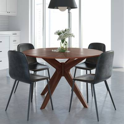 Amir 5 Piece Solid Wood Dining Sets (set Of 5) Throughout Most Recently Released Kling Dining Table & Reviews (View 5 of 20)