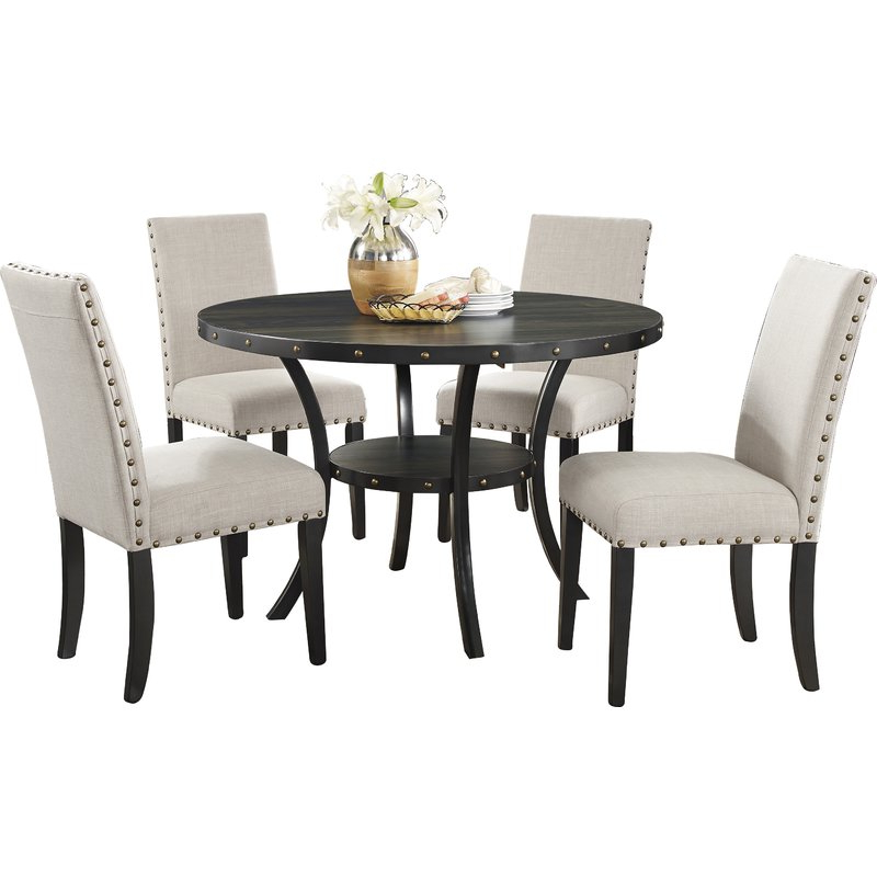 Amy 5 Piece Dining Set & Reviews (Gallery 6 of 20)