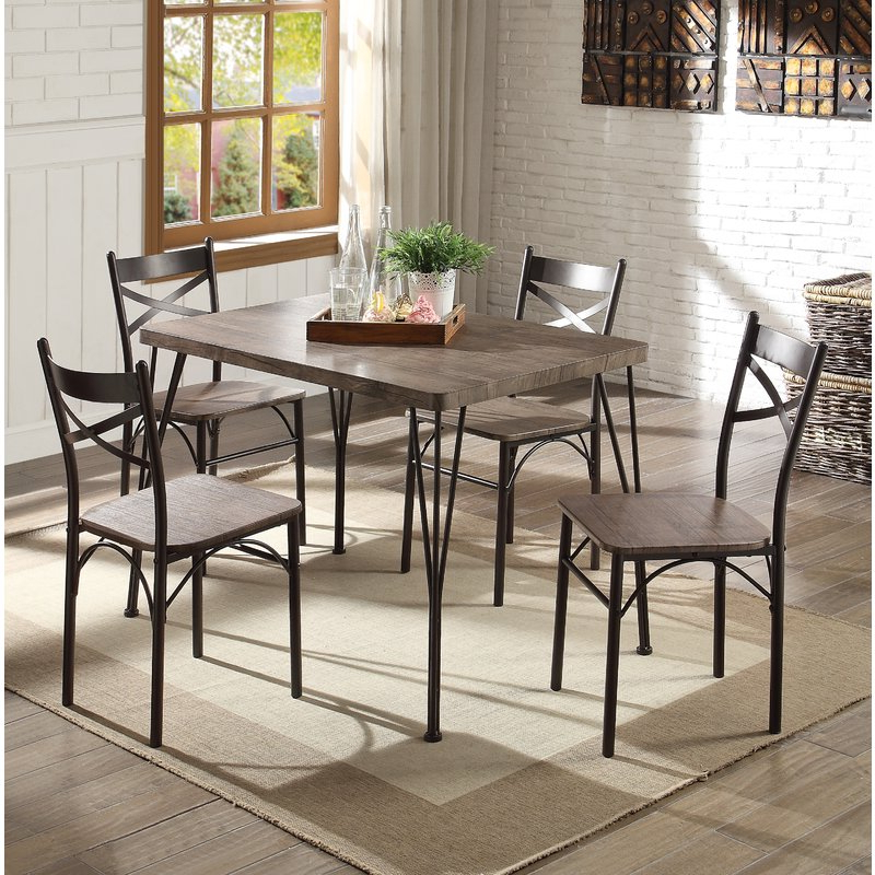 Andover Mills Middleport 5 Piece Dining Set (View 4 of 20)