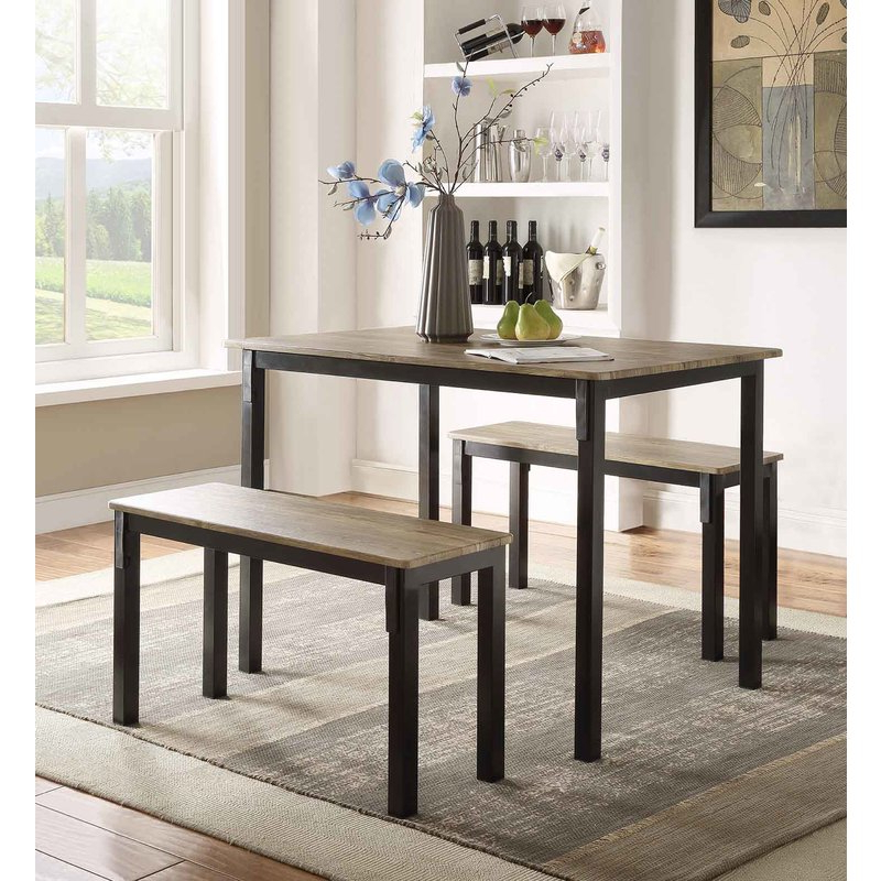 Andover Mills Rossiter 3 Piece Dining Set & Reviews (Gallery 1 of 20)