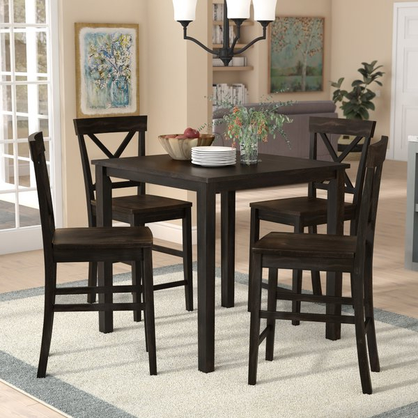Anette 3 Piece Counter Height Dining Setcharlton Home 2019 Sale For Newest Anette 3 Piece Counter Height Dining Sets (View 4 of 20)