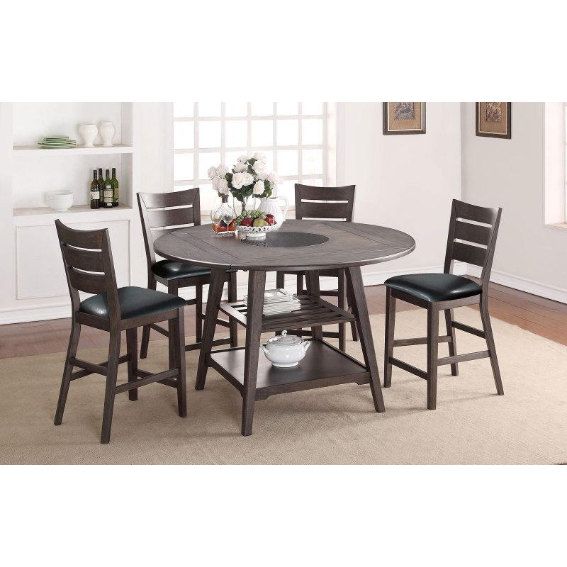 Anette 3 Piece Counter Height Dining Sets Throughout Latest Winners Only Round Counter Height Dining Table With Four  (View 5 of 20)