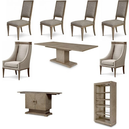 Art Furniture – Cityscapes Stone Bedford 9 Piece Rectangular Dining Intended For Preferred Bedfo 3 Piece Dining Sets (View 20 of 20)
