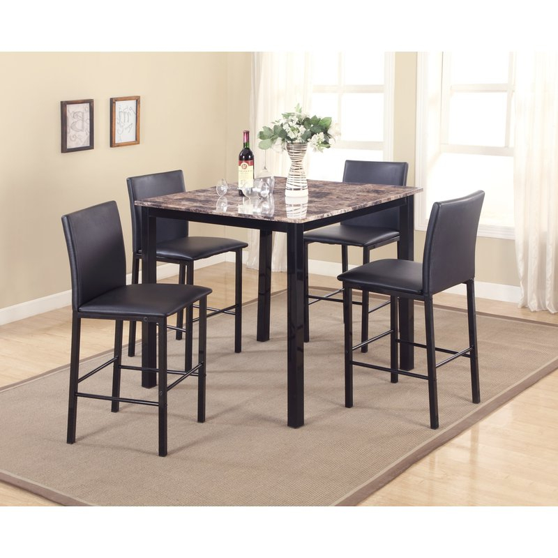 Autberry 5 Piece Dining Sets In 2019 Red Barrel Studio Noyes 5 Piece Counter Height Dining Set & Reviews (View 1 of 20)
