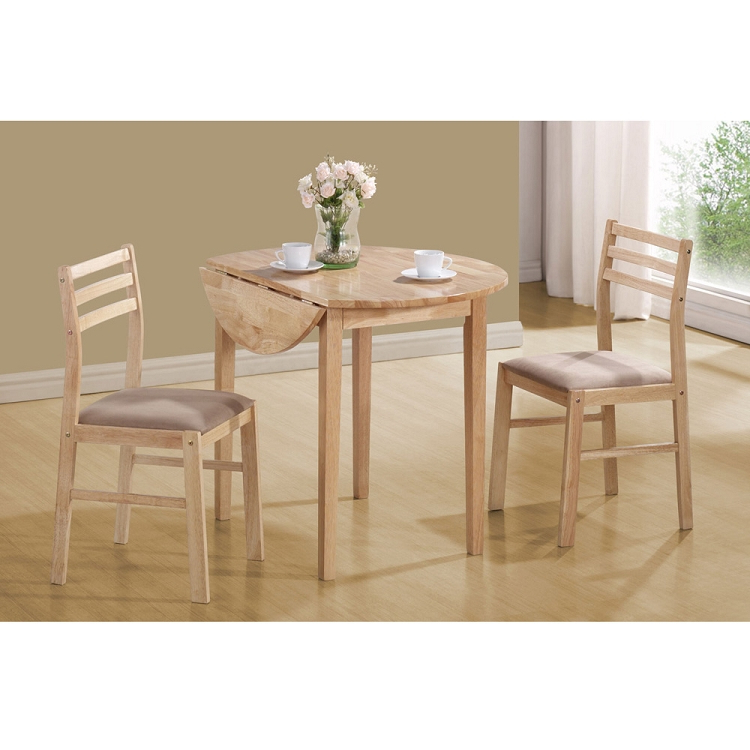 Awora Drop Leaf Dining Set In Natural (View 9 of 20)
