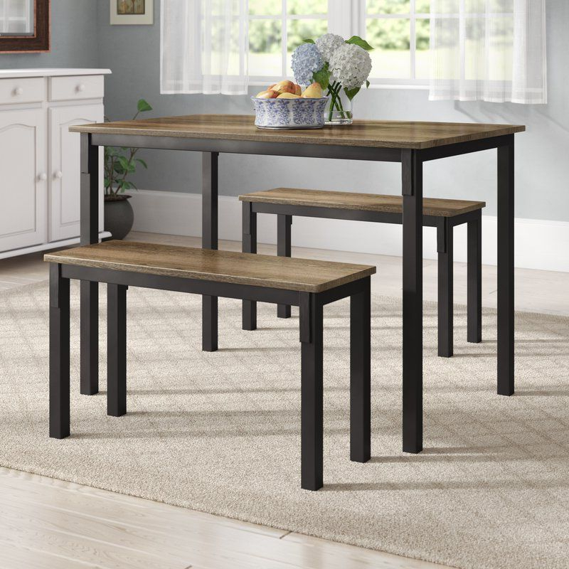 Bearden 3 Piece Dining Sets In Most Current Rossiter 3 Piece Dining Set In (View 5 of 20)