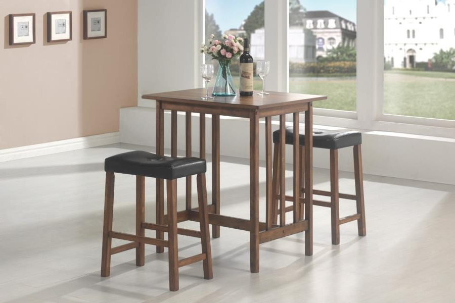 Bedfo 3 Piece Dining Sets In Well Known Packaged Sets: 3 Pc Set – Casual Brown Three Piece Table Set (View 14 of 20)