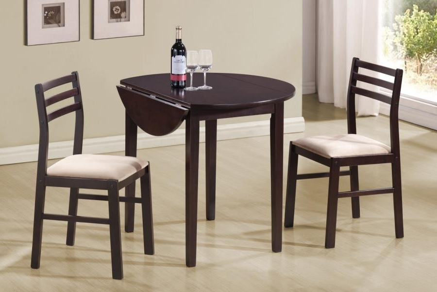 Bedfo 3 Piece Dining Sets Pertaining To Favorite Packaged Sets: 3 Pc Set – Casual Cappuccino Three Piece Dining Set (View 2 of 20)