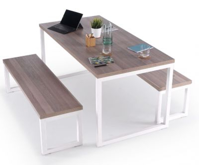Bench Dining Set – Kaelin – Cafe Reality In Preferred Kaelin 5 Piece Dining Sets (View 4 of 20)