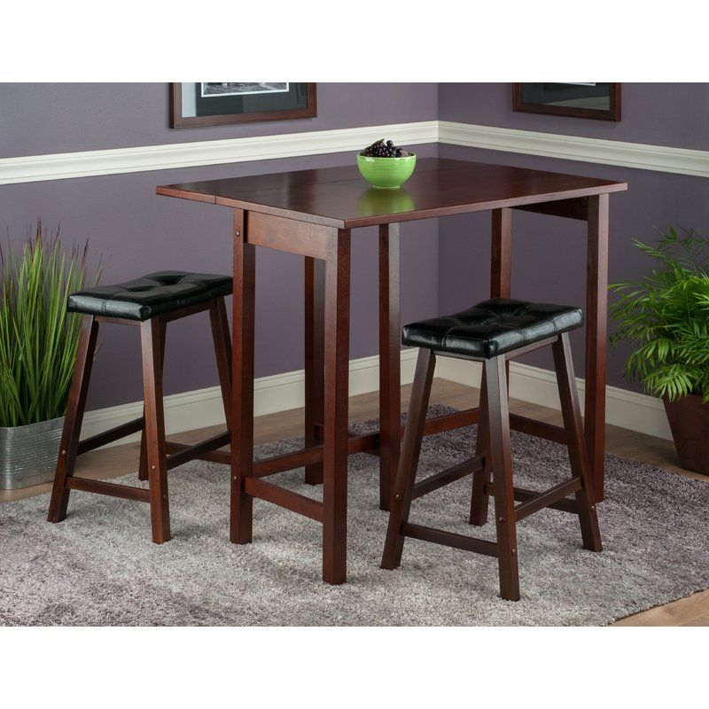 Best And Newest Bettencourt 3 Piece Counter Height Dining Sets In Red Barrel Studio Bettencourt 3 Piece Counter Height Dining Set (View 2 of 20)