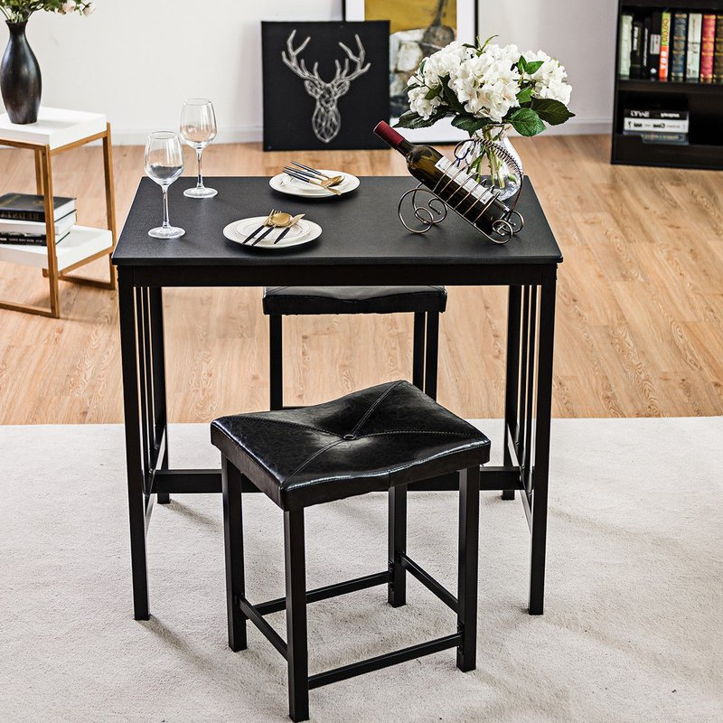 Best And Newest Miskell 3 Piece Dining Sets Inside Winston Porter Miskell 3 Piece Dining Set (View 6 of 20)