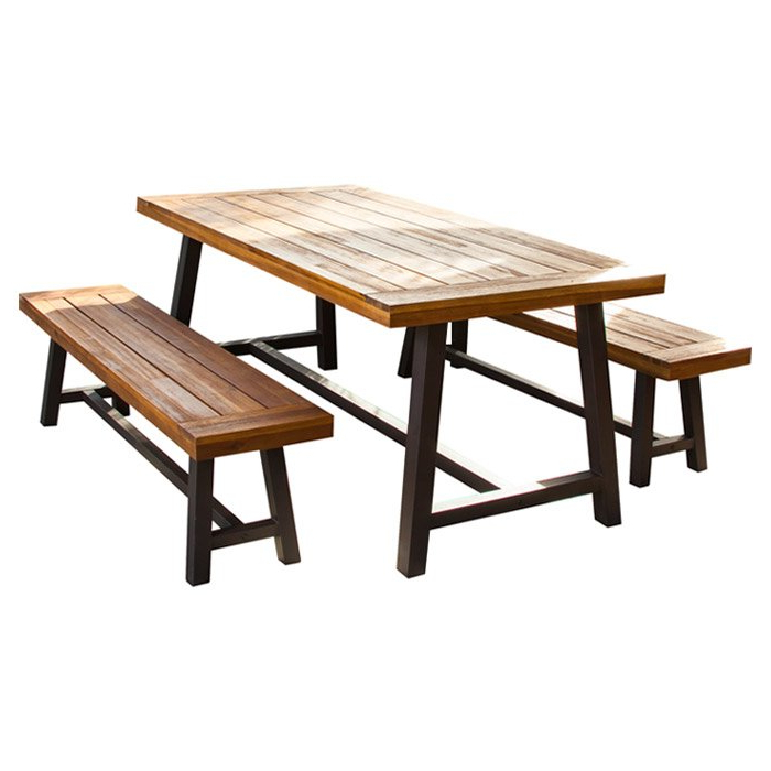 Best And Newest Trent Austin Design Bartlesville 3 Piece Dining Set & Reviews (View 15 of 20)
