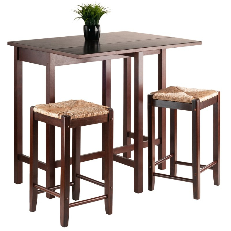 Bettencourt 3 Piece Counter Height Dining Sets Pertaining To Trendy Red Barrel Studio Bettencourt 3 Piece Counter Height Solid Wood (View 3 of 20)