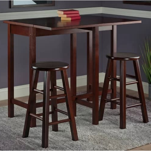 Bettencourt 3 Piece Counter Height Dining Sets Throughout Latest Handys Bettencourt 3 Piece Counter Height Pub Table Set (View 12 of 20)