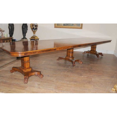 Blenheim Palace Walnut Regency Dining Table – London Gallery Within Most Current Lonon 3 Piece Dining Sets (View 3 of 20)