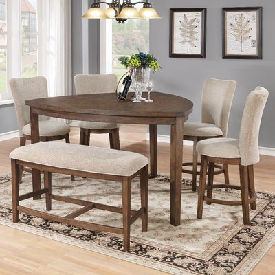 Bloomsbury Market Buckminster 6 Piece Counter Height Dining Set In Well Known Mukai 5 Piece Dining Sets (View 4 of 20)