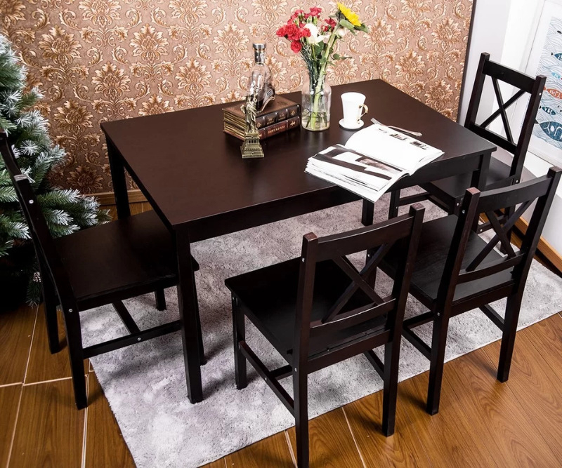 Brand New In Box* Table Only Dennie Solid Wood Diningwinst For Well Known Winsted 4 Piece Counter Height Dining Sets (View 11 of 20)