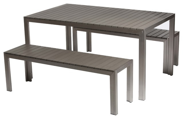Breeze 3 Piece Dining Set – Contemporary – Outdoor Dining Sets – With Widely Used 3 Piece Dining Sets (View 16 of 20)
