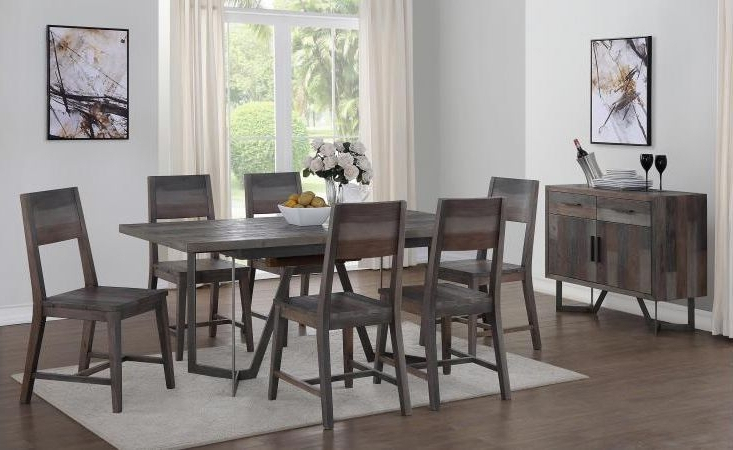 Buy London Rectangular Extending Dining Set With 6 Dining Chairs Inside Well Known Lonon 3 Piece Dining Sets (View 4 of 20)