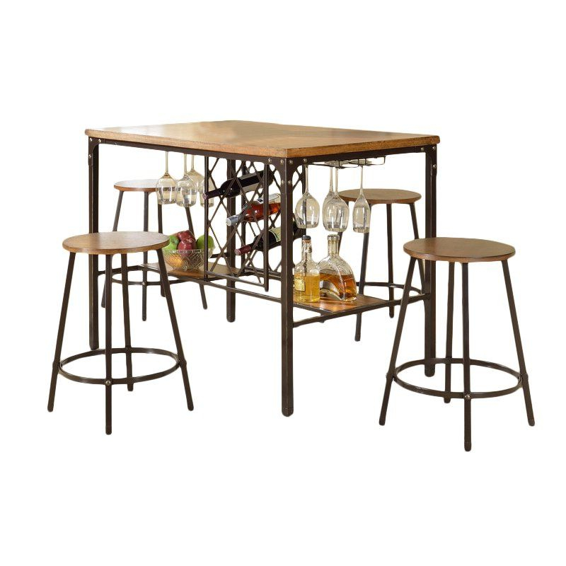 Calla 5 Piece Dining Sets In Most Up To Date Calla 5 Piece Pub Table Set In (View 7 of 20)