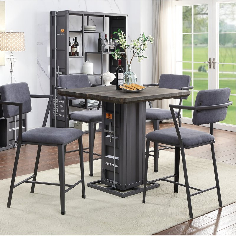 Cargo 5 Piece Dining Sets Pertaining To Preferred Acme Cargo 5 Piece Dining Set (Gallery 1 of 20)