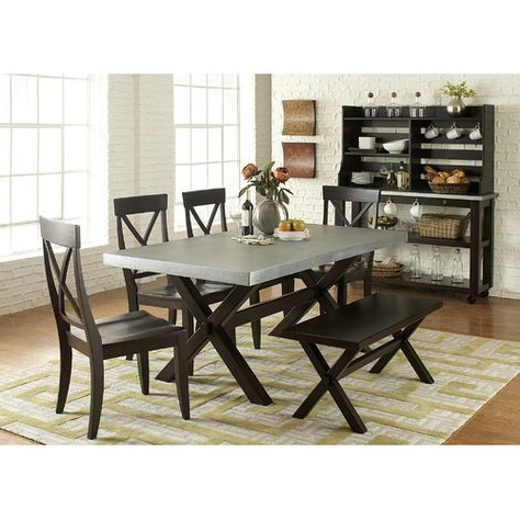Carriage Hill 7 Piece Extendable Dining Set Intended For Newest Pratiksha Sonoma 5 Piece Dining Sets (View 16 of 20)