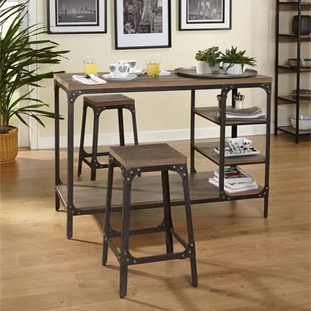 Castellanos Modern 5 Piece Counter Height Dining Sets Inside Most Up To Date Target Marketing Systems Scholar 3 Piece Vintage Industrial Counter (Gallery 16 of 20)