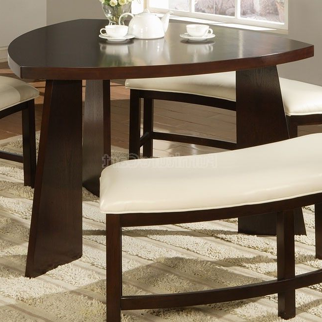 Castellanos Modern 5 Piece Counter Height Dining Sets With Regard To Best And Newest Friendship Circle Triangle Dining Table In (View 20 of 20)